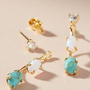 Anthropologie Finola Front-Back Earrings
